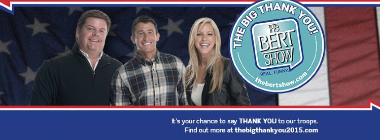 Send Our Troops a 'Big Thank You' this Holiday Season with Help From The Bert Show