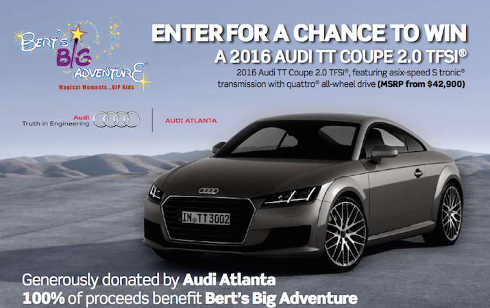 Enter to Win Your Dream Car and Give Back to Bert's Big Adventure