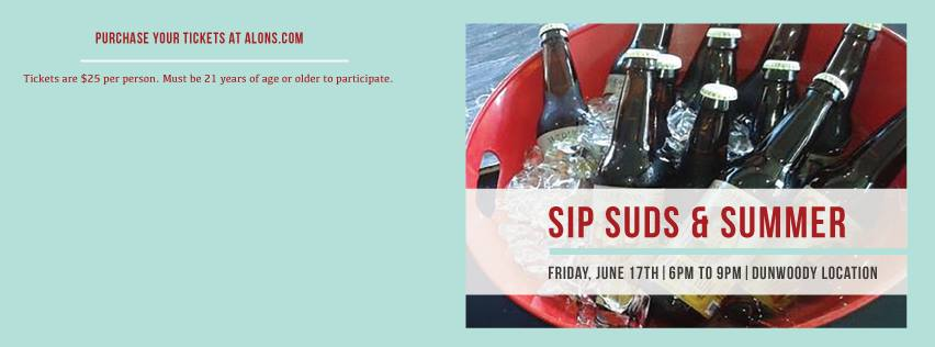 ALON'S BAKERY & MARKET HOSTS ANNUAL SIP SUDS & SUMMER BEER TASTING EVENT ON JUNE 17TH